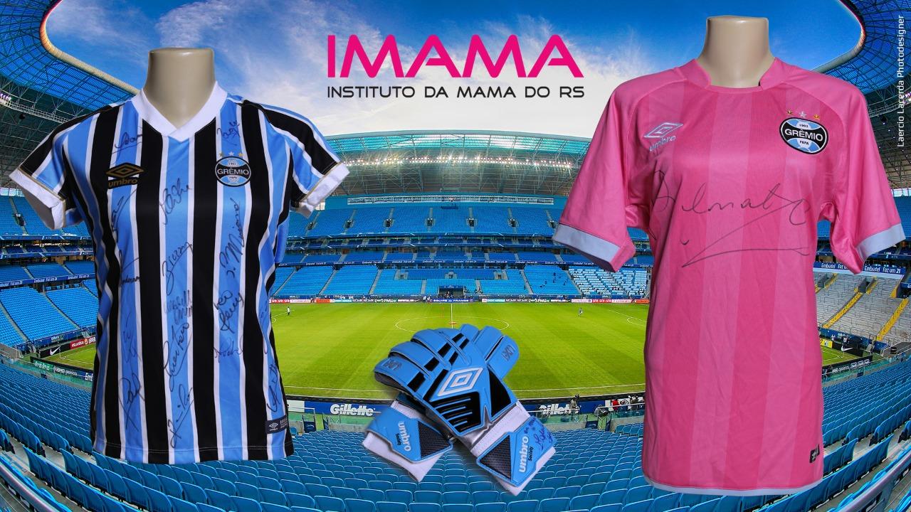 Ação entre amigos Imama – Kit Autografado do Grêmio