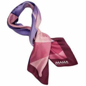 Lenço Italiano IMAMA + Dulcet + Contornos – Coleção Colore Rosa – Modelo 4