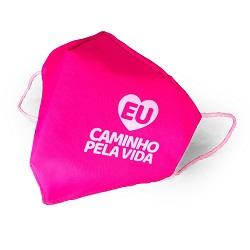 Máscara Campanha 2020 #eucaminhopelavida