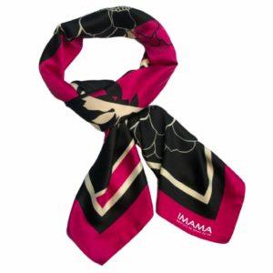 Lenço Italiano IMAMA + Dulcet + Contornos – Coleção Colore Rosa – Modelo 1