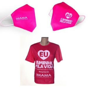 kit Máscara + Camiseta campanha 2020 #eucaminhopelavida